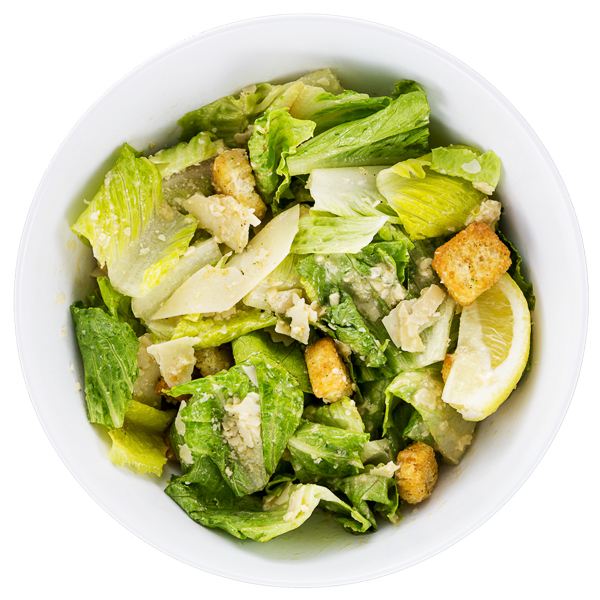 Caesar Salad - Fresh romaine sprinkled with parmesan cheese and black pepper with our house-made caesar dressing$7.50