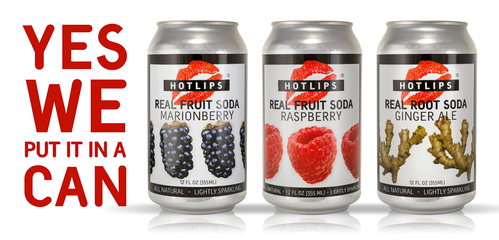 HOTLIPS Real Fruit Soda made in Portland Oregon...  learn more