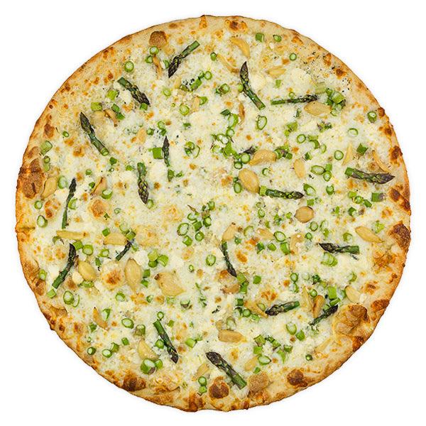 Friday Vegetarian Slice:  Asparagus + Blue Cheese