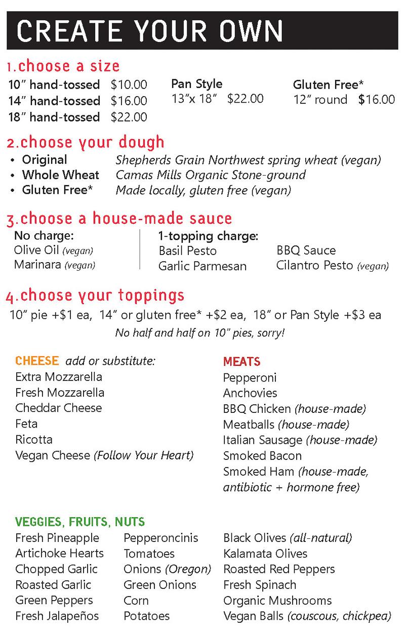 Pizza beer wine + salad delivery restaurants in Portland, Oregon