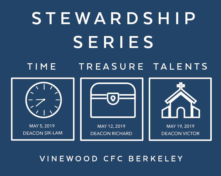 Stewardship of Time - Luke 10:38-42, Mark 6:30-32 | May 5, 2019Deacon Sik-Lam Wong