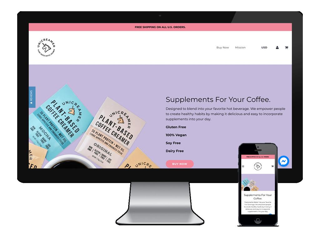 Unicreamer Website – Website in Skin – Desktop and Mobile Image.png