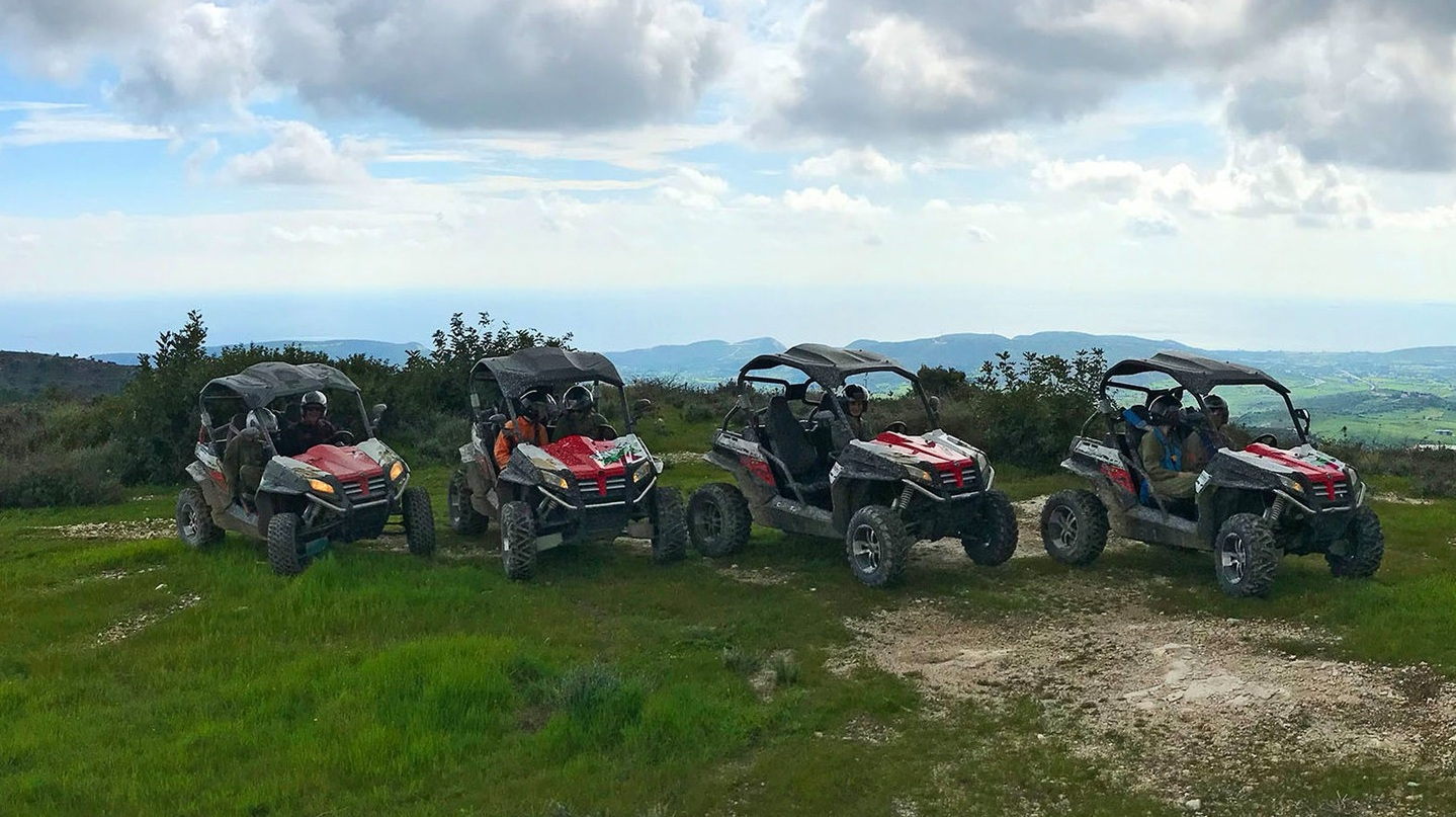 €90  • Off road buggy tour 50 min /  2 persons per buggy