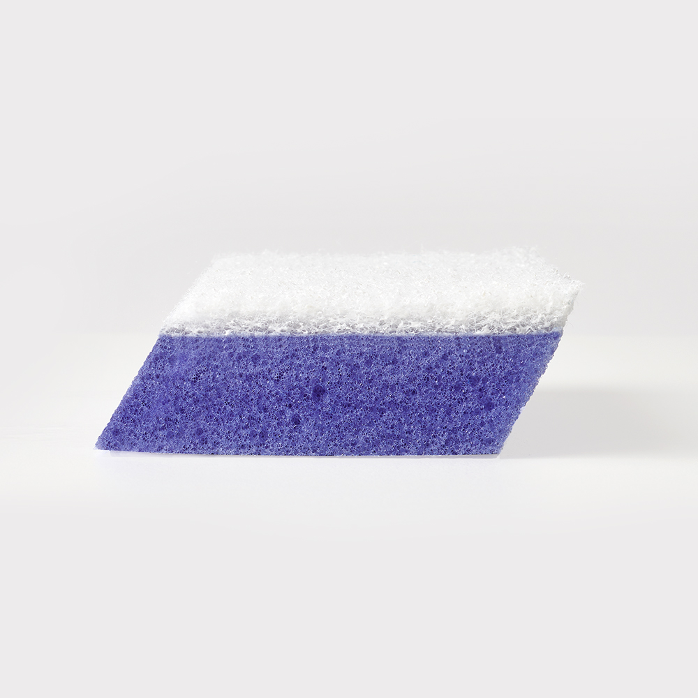 Brillo® Estracell® No Scratch Scrub Sponge with Wedge Edge® out of package