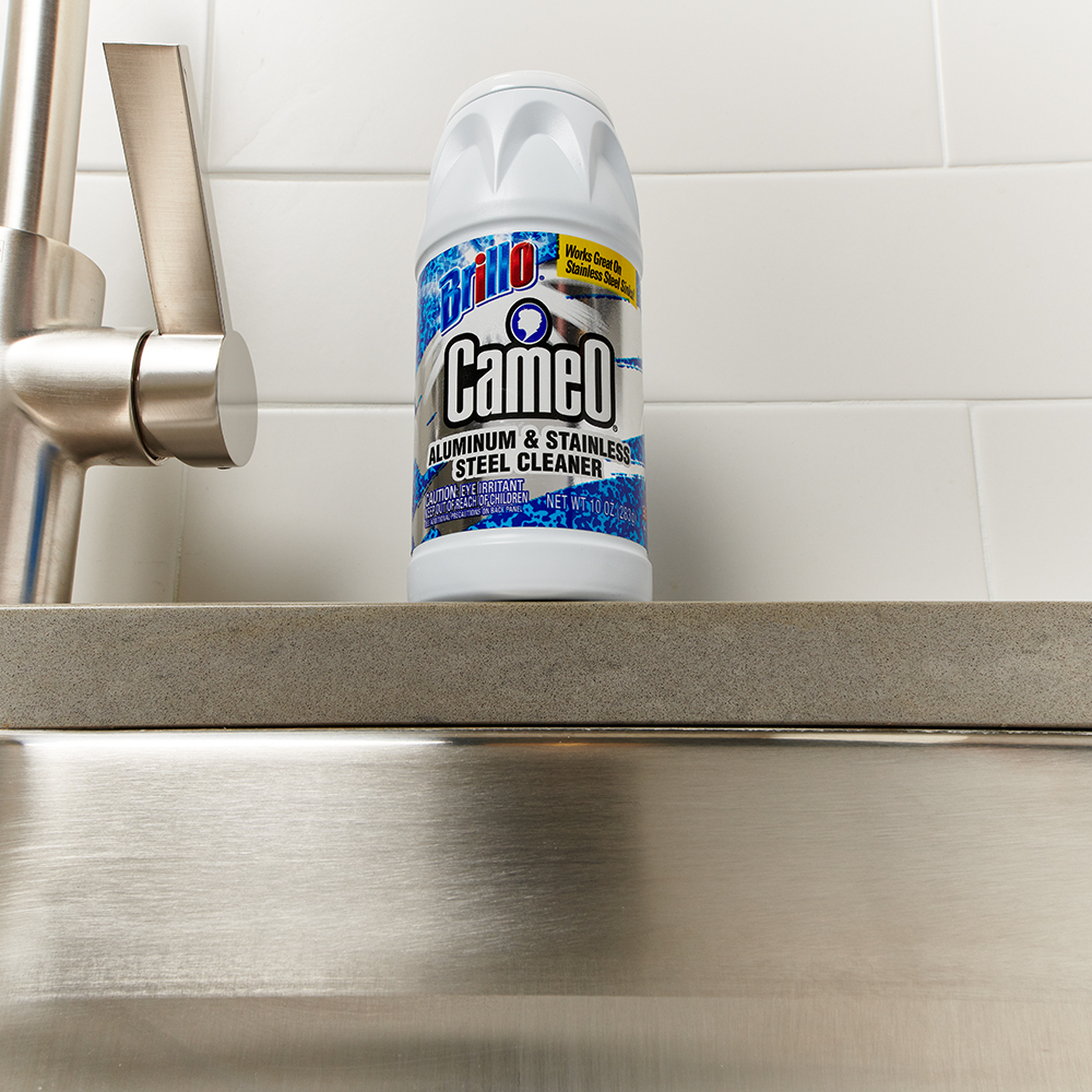 Brillo® Cameo® - Aluminum & Stainless Steel Cleaner above sink