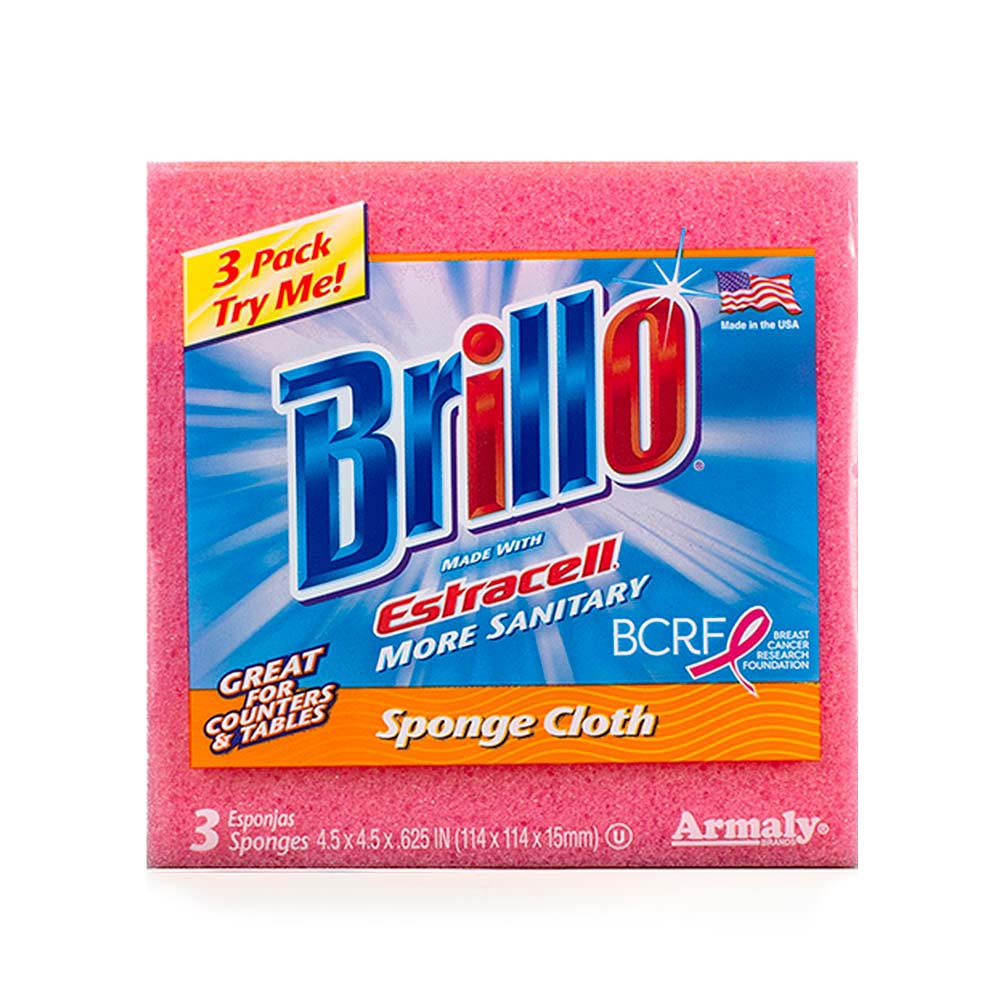 Brillo® Estracell® Sponge Cloth - Wipes Better than Paper Towels