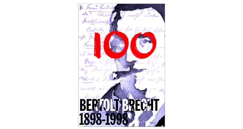 "This poster uses a rough watercolor portrait, the playwright's handwriting, and bold brush strokes to convey the complexity and rawness of Bertolt Brecht's life and work. Harp and Company was one of two design firms in the United States (the other was Milton Glaser), and 65 worldwide, invited by the Berliner Ensemble to design a poster for ""100 Posters for the 100th Birthday of Bertolt Brecht."" The posters were displayed at an international exhibition in Berlin."