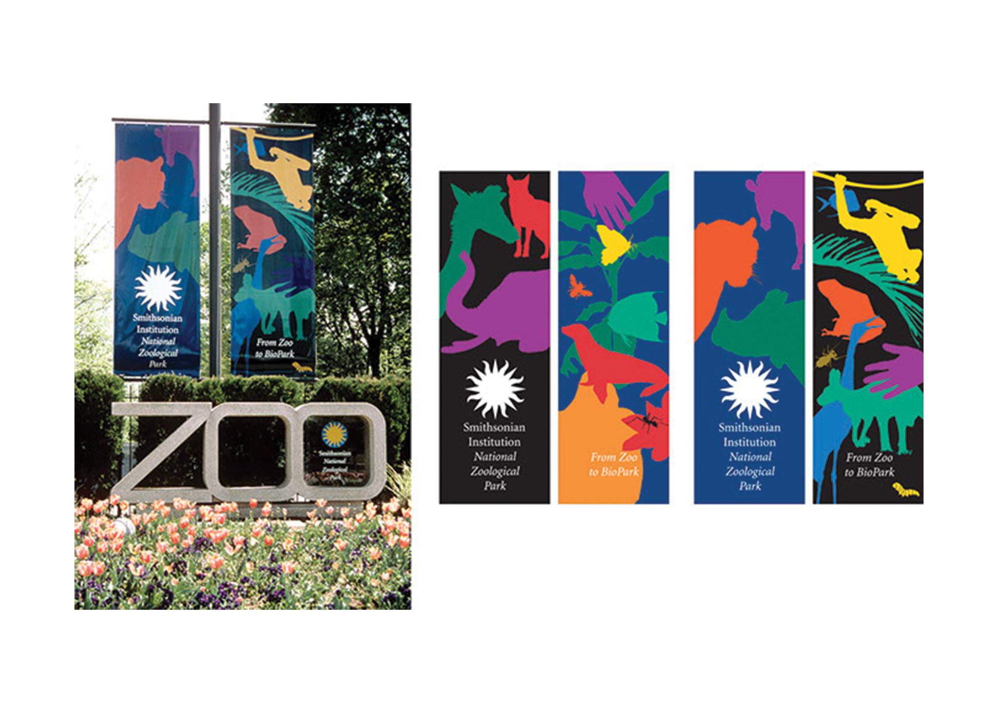 Banners for the Smithsonian Institution National Zoological Park, Washington, DC.