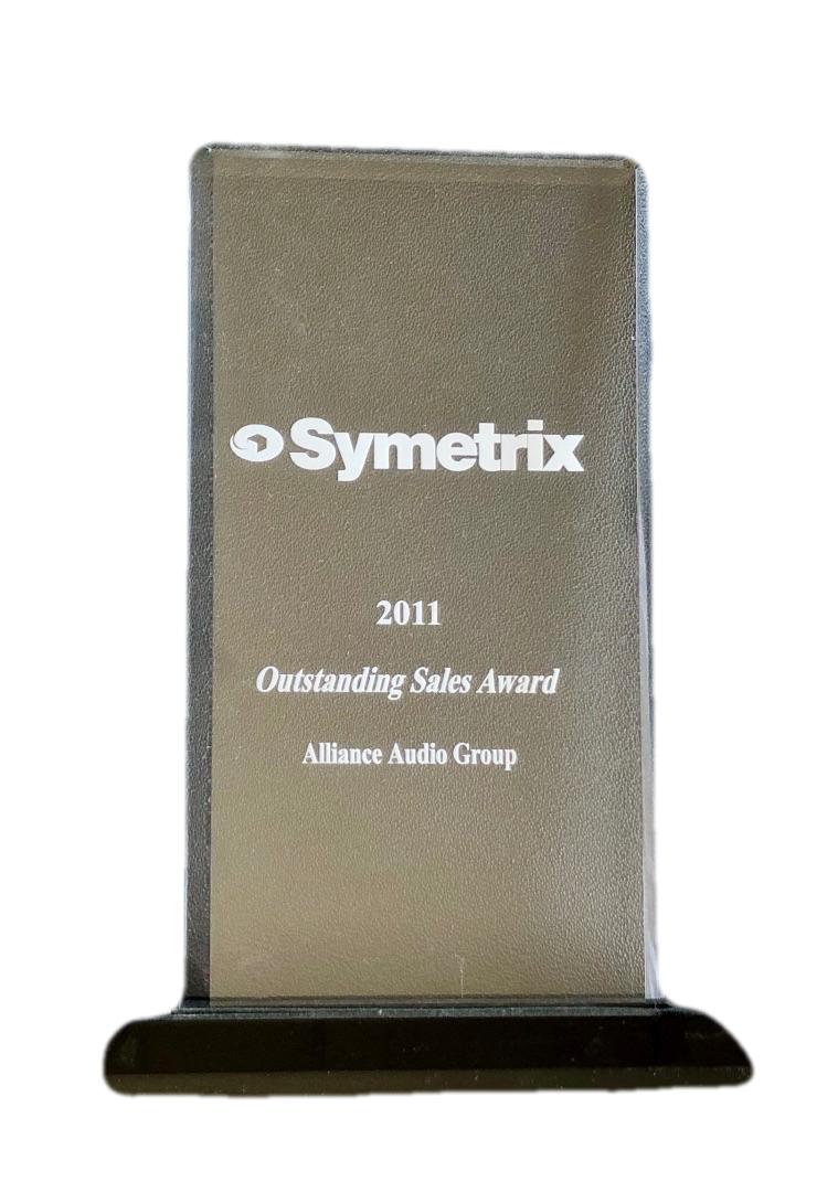 Symetrix Outstanding Sales Award 2011