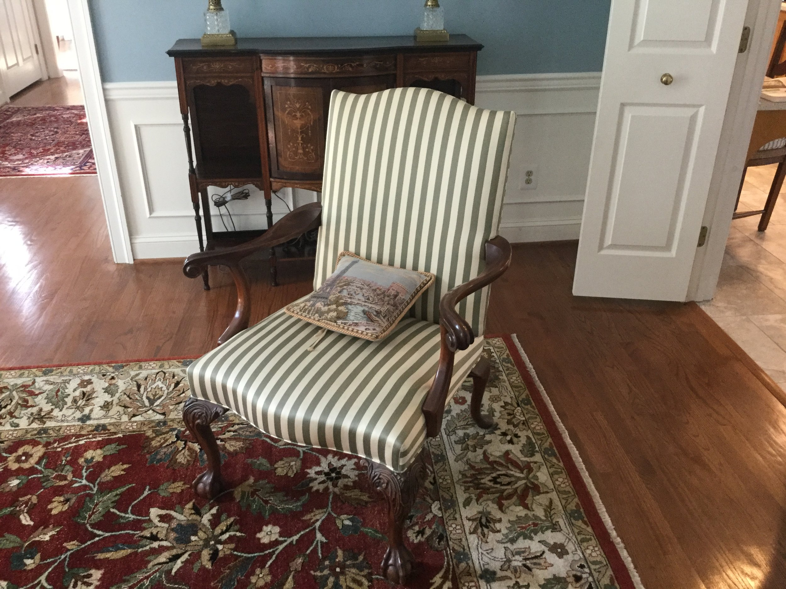 Original chair before reupholstering.