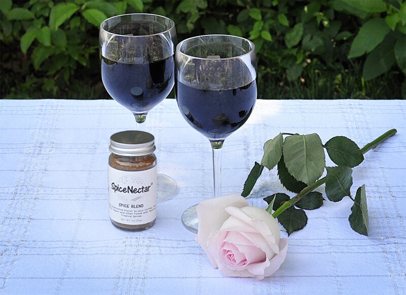 Sprinkle a pinch of SpiceNectar on top of your wine. Swirl the wine to bring out the full flavor of SpiceNectar.