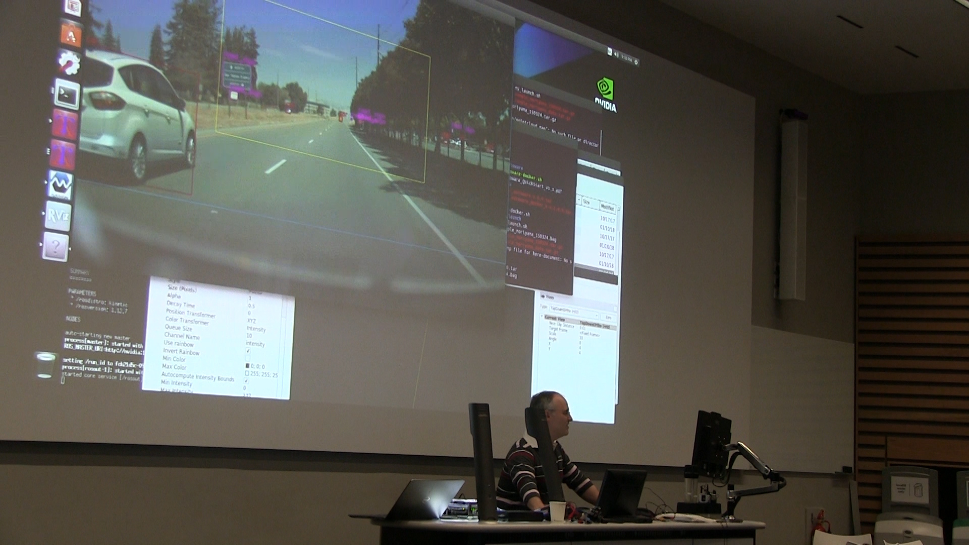 A demonstration of autonomous vehicle technology during one of the breakout sessions