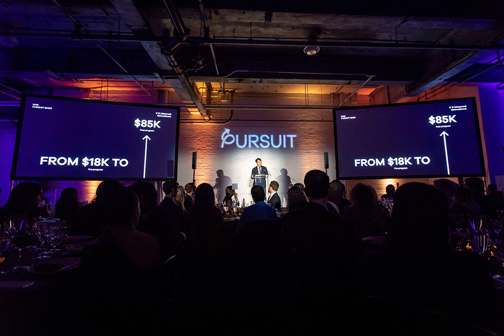 Jukay Hsu, Pursuit co-founder and CEO, speaking about the organization's impact