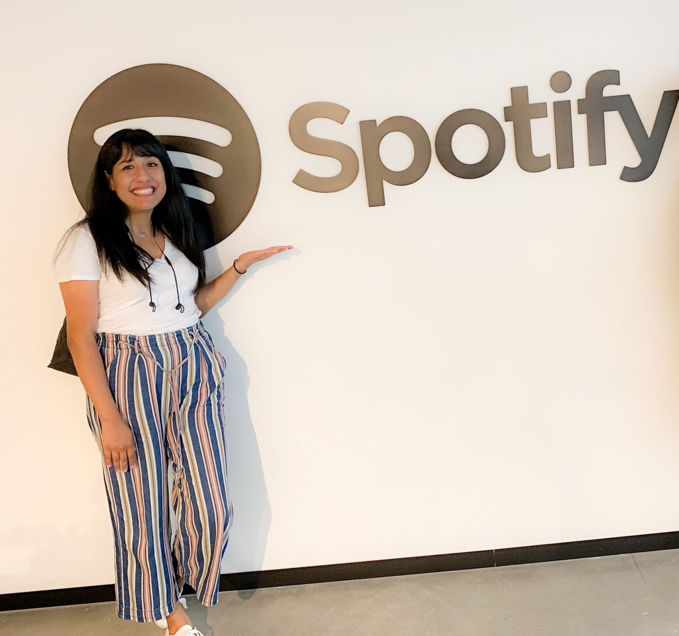Erika before her job interview at Spotify.