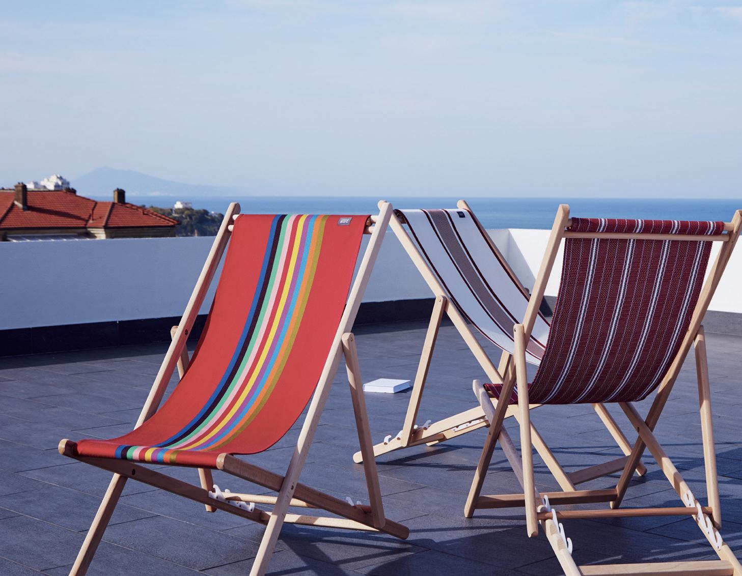 TISSAGE DE LUZ Transats Marbella, Maïte rouge et Felix Rouge.jpg