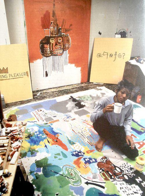 L'artiste Jean-Michel Basquiat, figure de proue du mouvement underground de l'époque