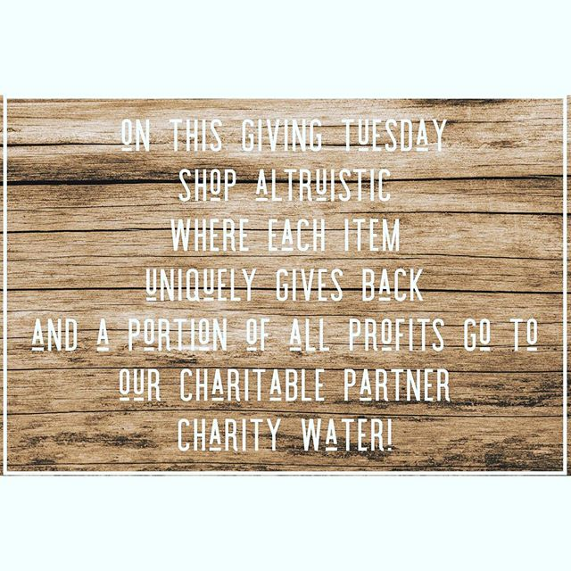 Shopaltruistic.com #givingtuesday #giveback #altruism #consciousfashion #consciousliving #intentionalliving #careforothers #givebacklookgreat #ecofashion ##changetheworld #lookgoodfeelgood #christmasgiftsideas #uniquegifts #charitable