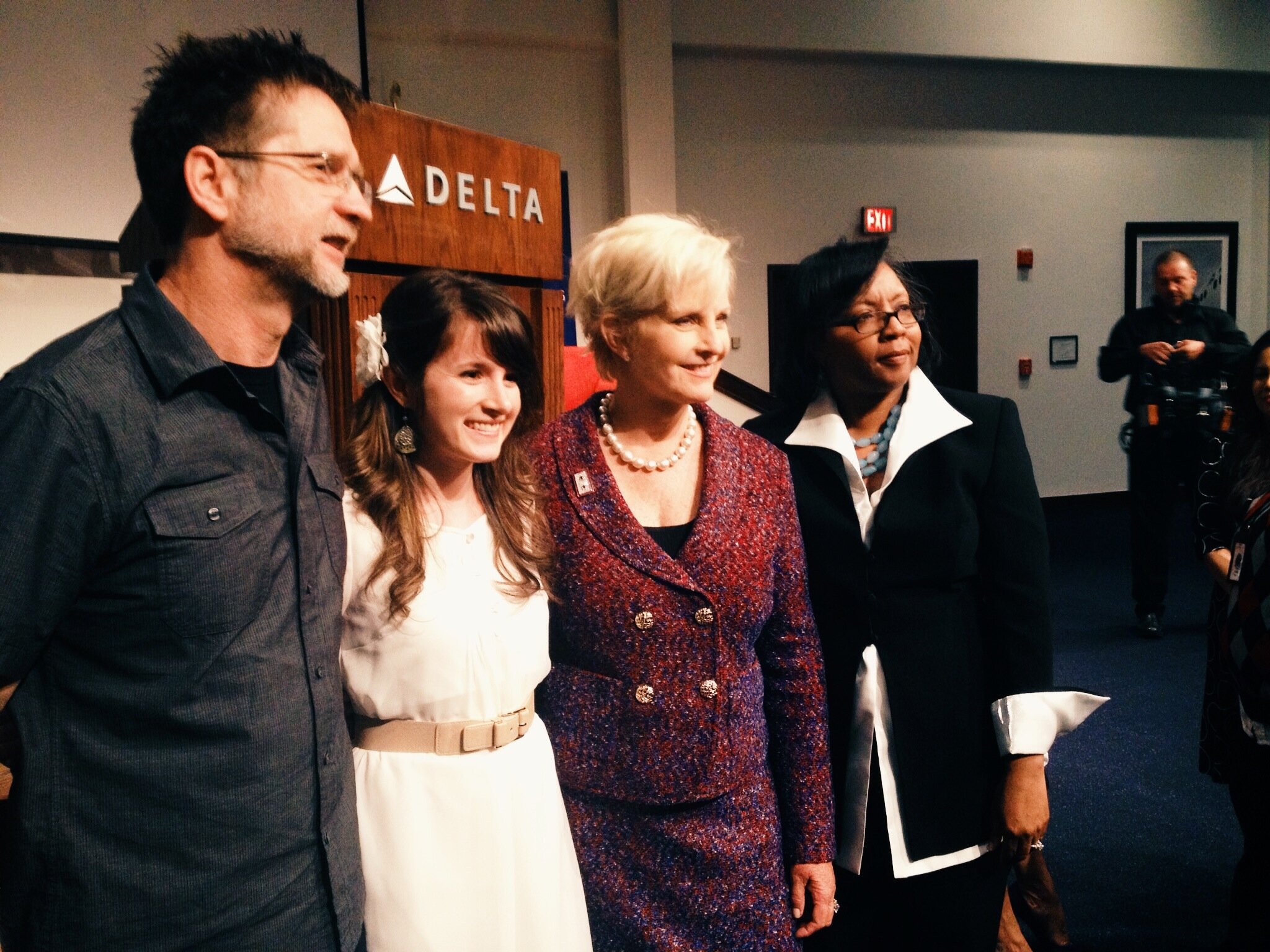 """2014 - AFTER SINGING """"BREAK THE CHAINS"""" AT DELTA"""