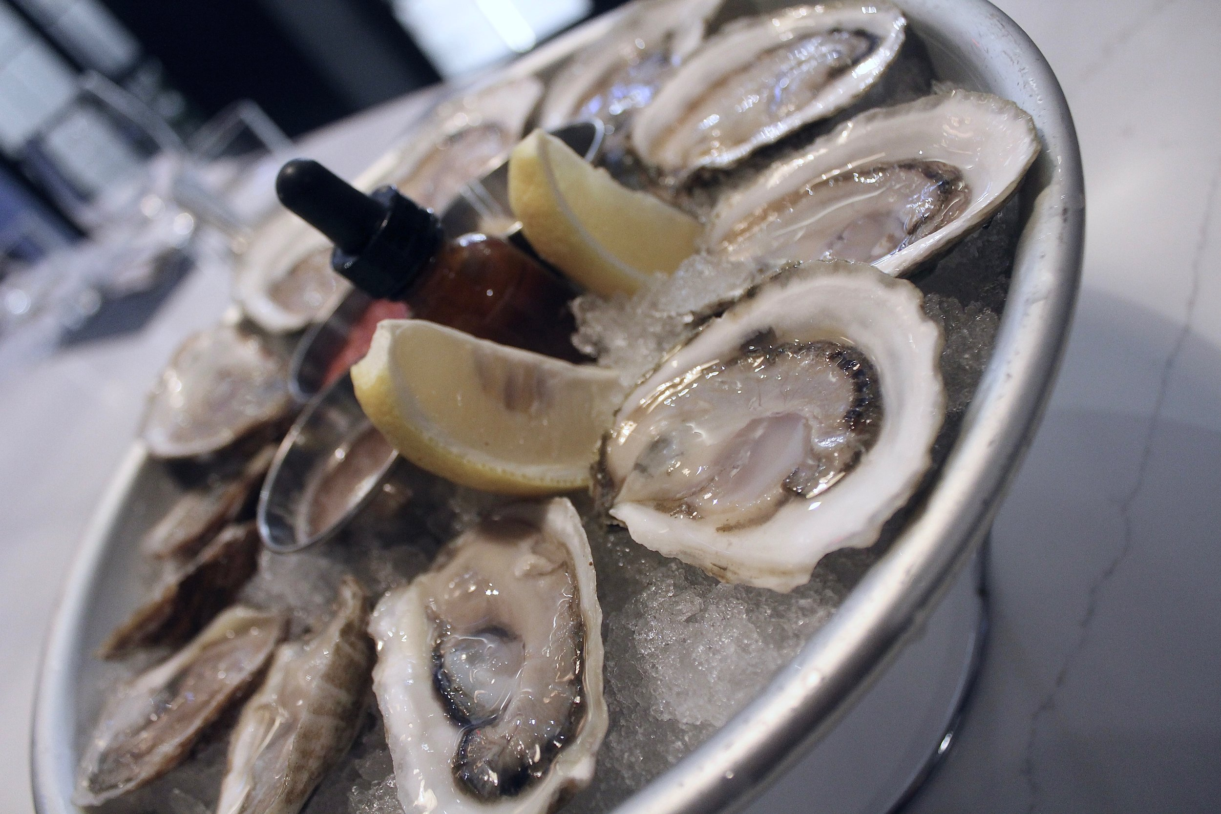 Happy Hour - Join us at the BarTuesday through FridayHalf Price Oysters ~ 4:30pm - 6:00pmDiscounted Drinks ~ 4:30pm - 7:00pm