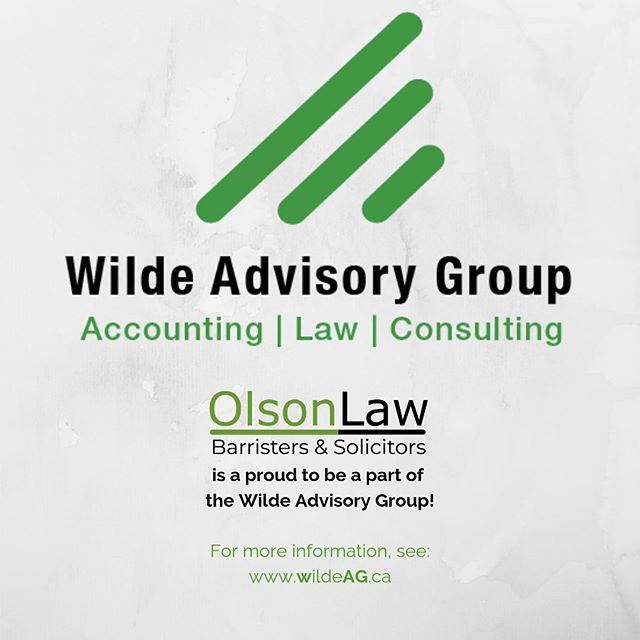 Olson Law is proud to be a part of the Wilde Advisory Group! • Wilde & Company, CPAs • Olson Law, Barristers and Solicitors • M Consulting, Consultants  __________________________________________________________  Clients can expect excellence, compassion and generosity from the firms of Wilde Advisory Group to meet all their professional needs.  #wildeadvisorygroup #olsonlawveg #alberta #vegreville #yeg #camrose
