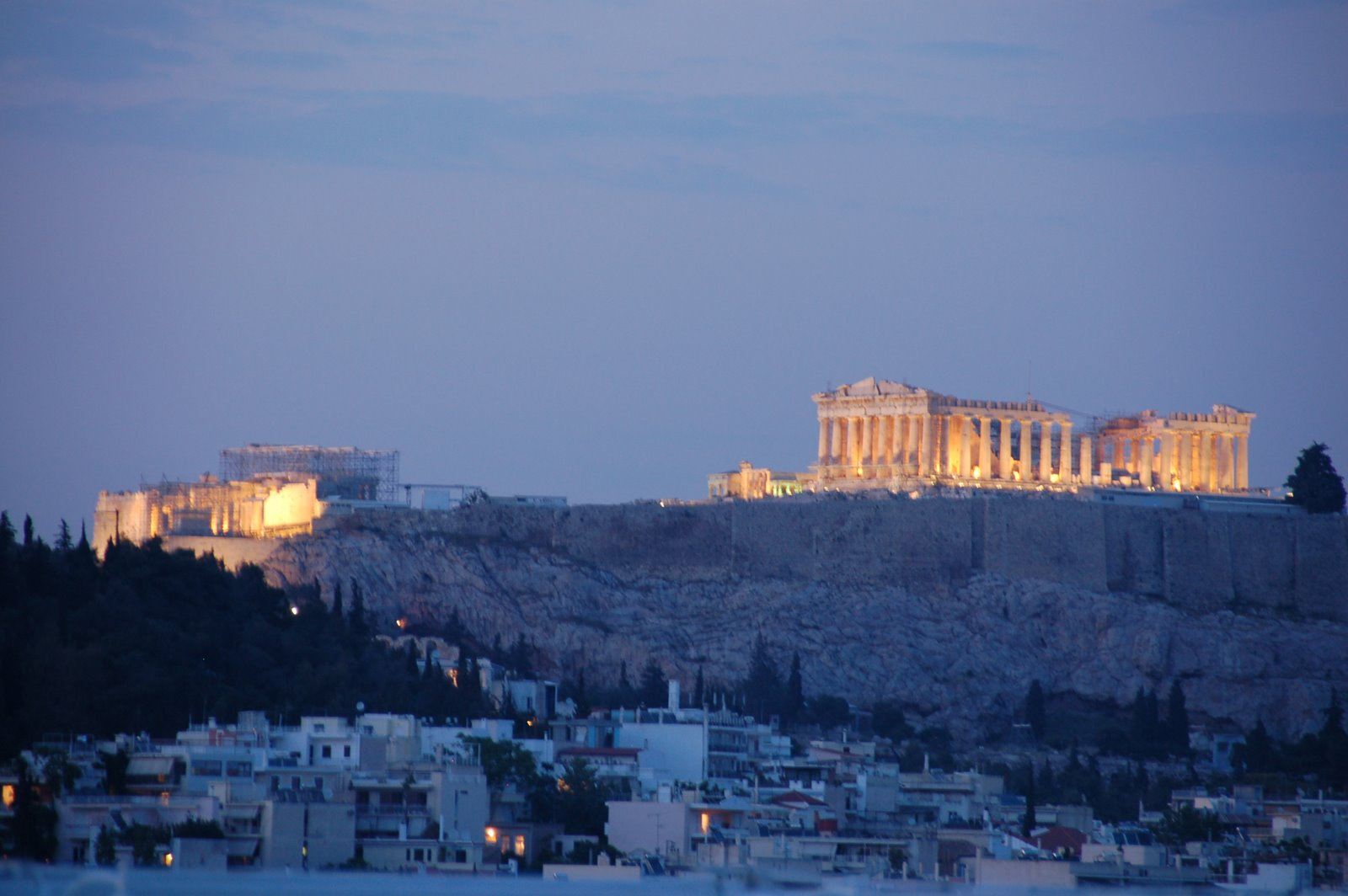 Shot of the Acropolis we took from the rooftop bar at our hotel last night.
