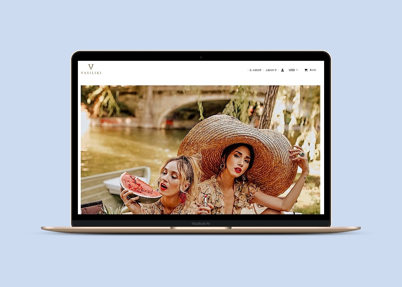 Shopify fashion brand website design Zay Creative