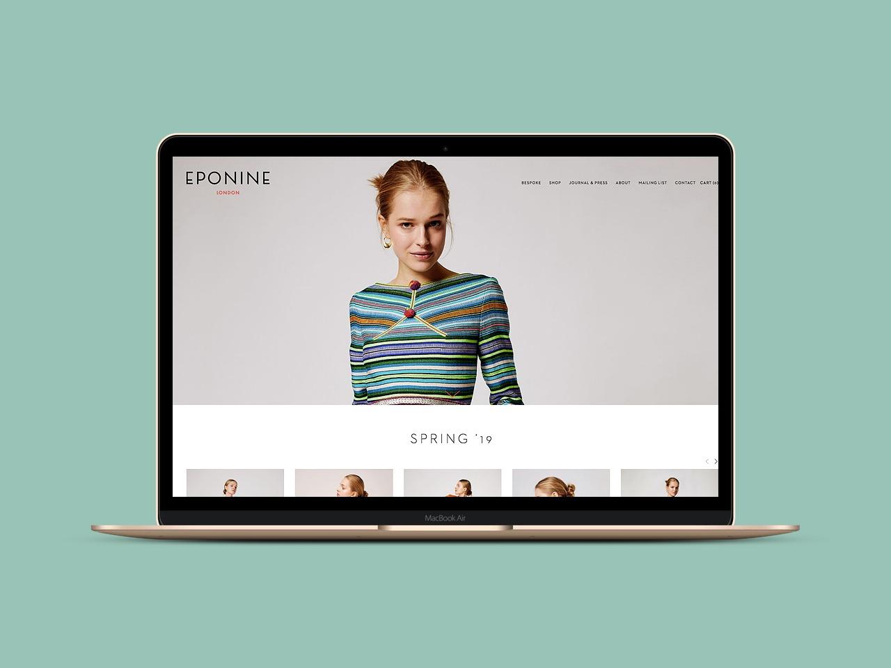 Shopify fashion brand website design Zay Creative