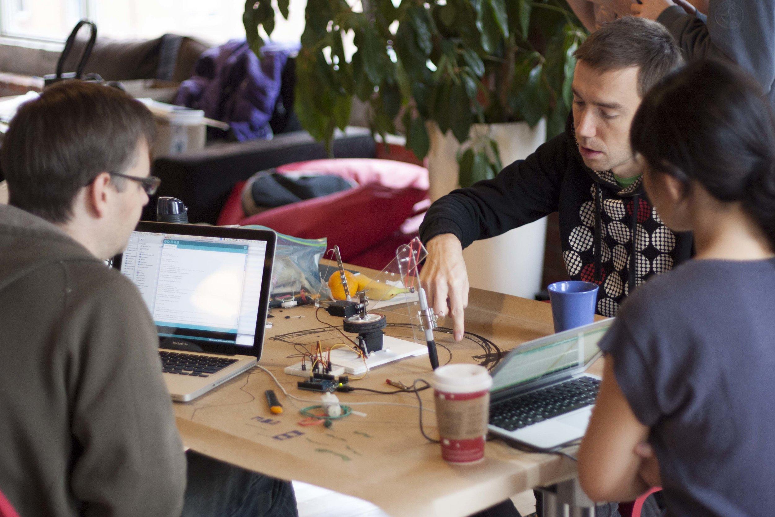 Mr. Moboto at the 2012 Get Your Bot On! Robotics Hackathon