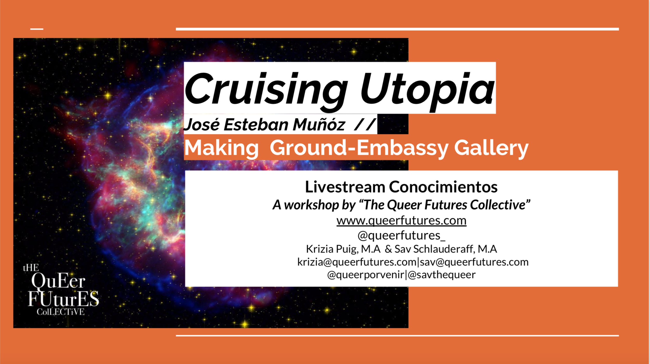 Cruising Utopia - Click here for the PDF or click the link here to follow along with our livestream!