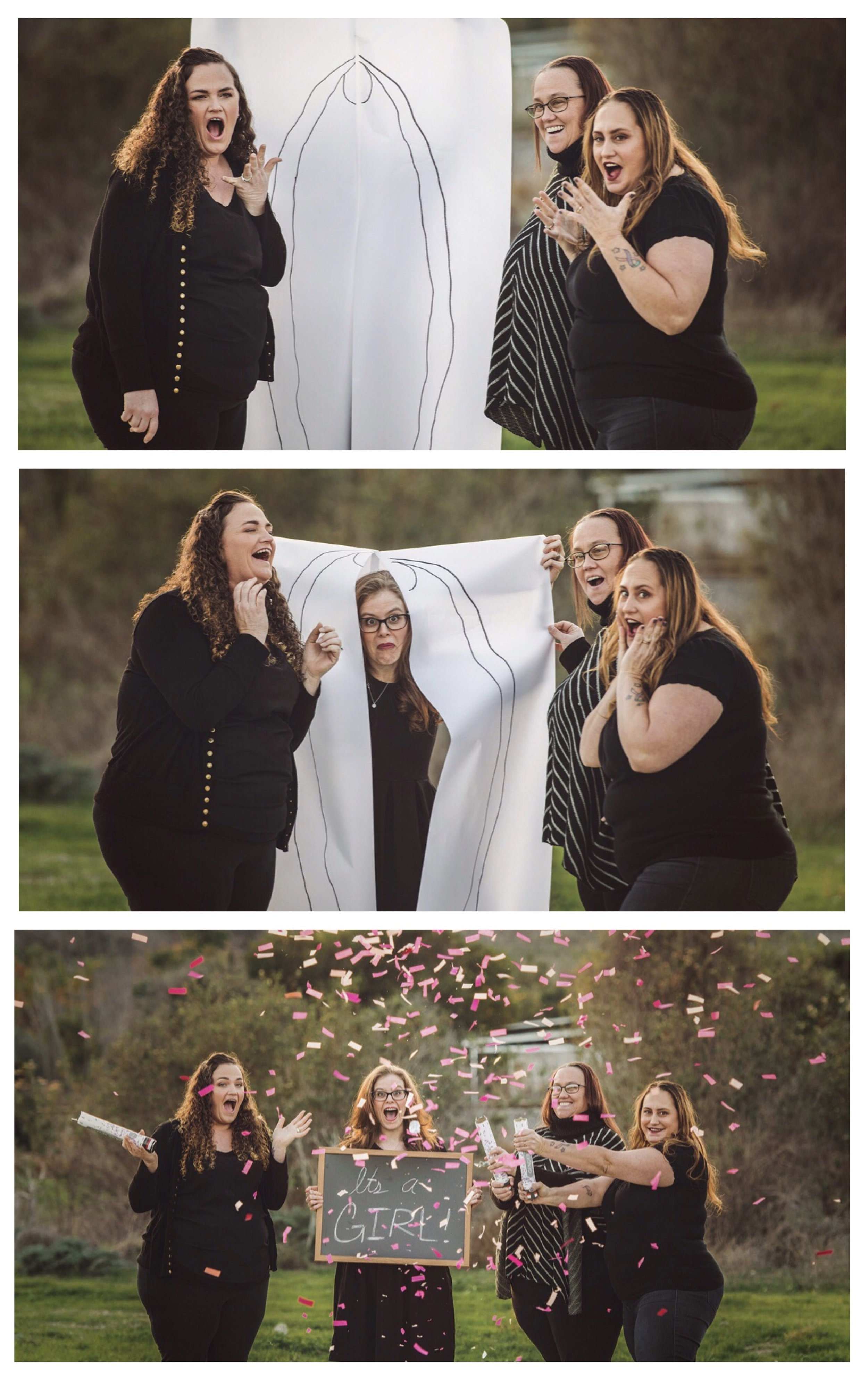 """The """"Gender Reveal"""" series was captured by photographer Megan Dendinger and is currently trending on social media."""