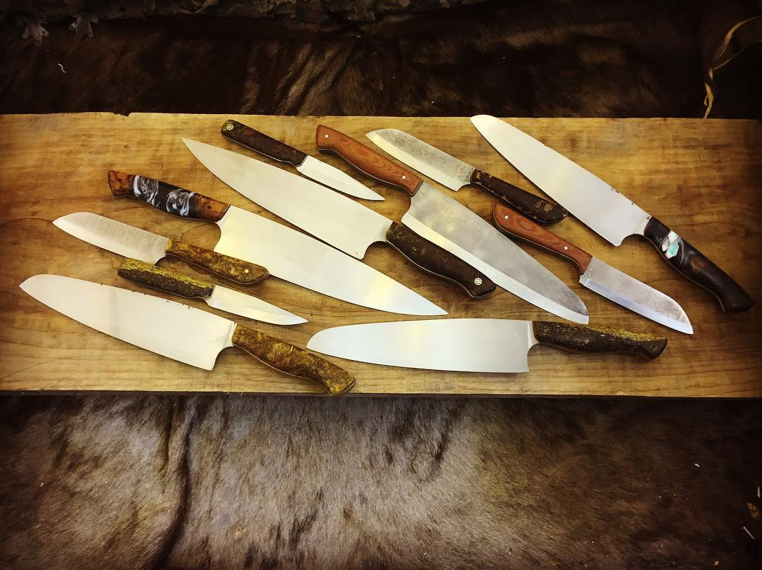 "8"" Chef's Knives, 5"" Chef's Companion Knives, and Parring Knives"