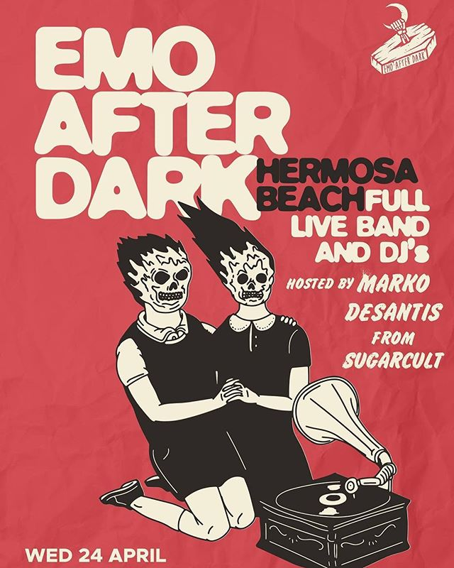 *** EMO AFTER DARK *** SAINT ROCKE HERMOSA BEACH, CA HOSTED BY @markodesantis from SUGARCULT WEDNESDAY, APRIL 24th , Doors 6pm BAND 8:30pm $10 at Door, 21+  Emo After Dark is expanding and touring new locations for our Emo Events. Saint Rocke will be one not to miss! Full live band and guest DJs playing all your favorites from: Fall Out Boy, My Chemical Romance, The Used, The Killers, Good Charlotte, Paramore, Panic At The Disco, Blink 182, AFI, Sum 41, Yellowcard, Dashboard Confessional, Boys Like Girls, Taking Back Sunday, Hawthorne Heights, A Day To Remember, Taking Back Sunday,  Saves The Day, New Found Glory, Underoath, Saosin, Thrice, Finch, The All-American Rejects, Mayday Parade, The Starting Line … & more! #emoafterdark #emonight #emonightlongbeach #emo #emoboy #emoscene #emostyle #emobands #emomusic #emolife #emolongbeach  #poppunk #punkpop #poppunkband #poppunkmusic #poppunksnotdead