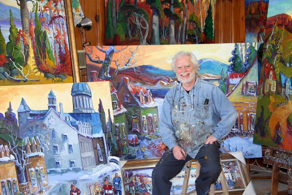 Normand Boisvert - M.Boisvert cumule une cinquantaine d'années de peinture. Ses toiles, qui sont en demande autant au Canada qu'en Europe, sont marquées de son trait de pinceau fort et ses lumières intenses.