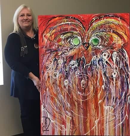 Manon Rioux - Mme Rioux exprime a créatisvité grâce à l'aquarelle, l'encre et l'acrylique. Ces médiums la rejoignent dans sa spontanéité et lui permettent de laisser libre cours à son imagination. L'émotion et la profondeur qui se dégagent de ses œuvres sont ce qui caractérisent le mieux sa technique intuitive. On peut en apprécier l'ambiance, l'harmonie des couleurs, le mouvement et la douceur qui émanent de ses toiles.
