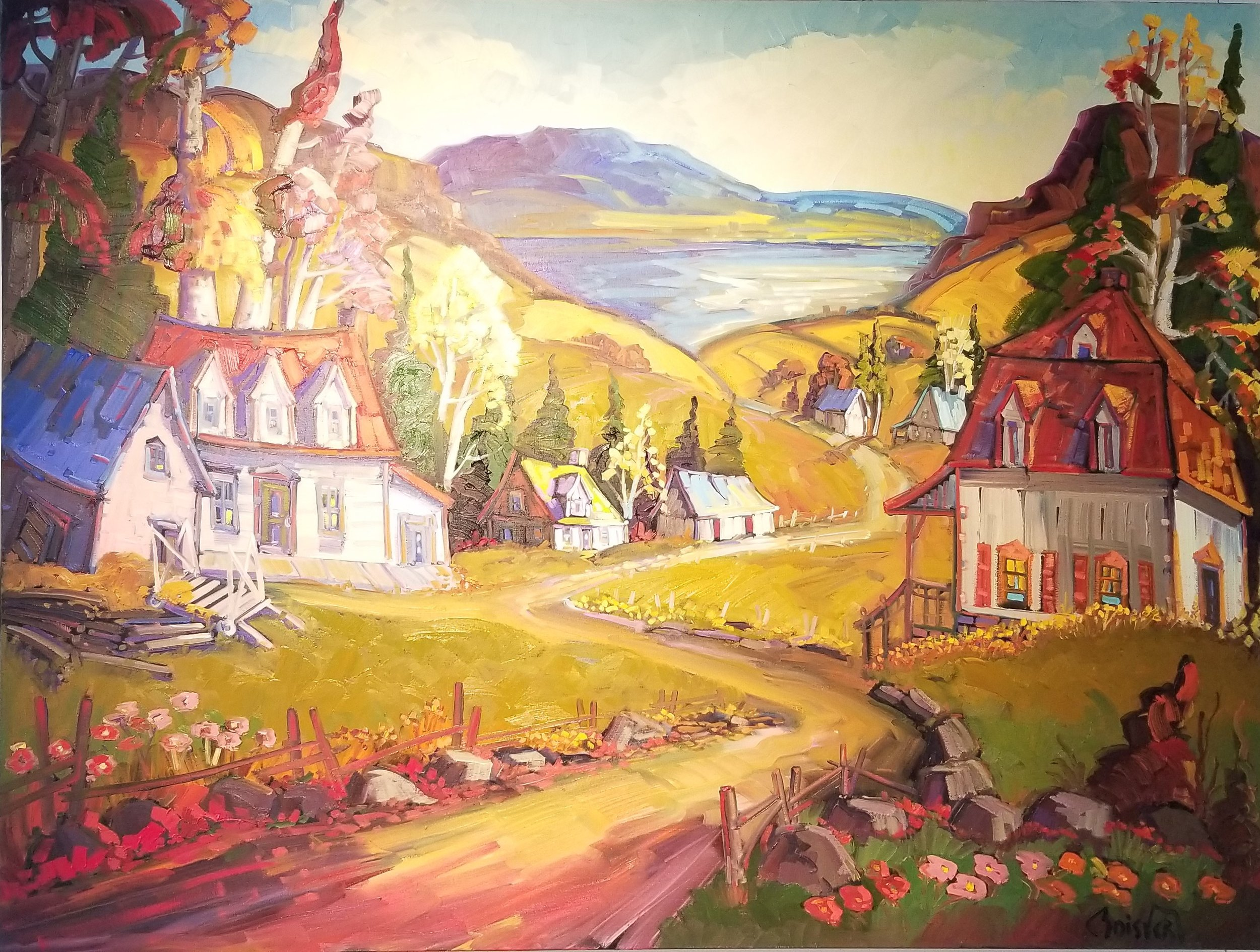 Normand Boisvert-La maison au toit rouge