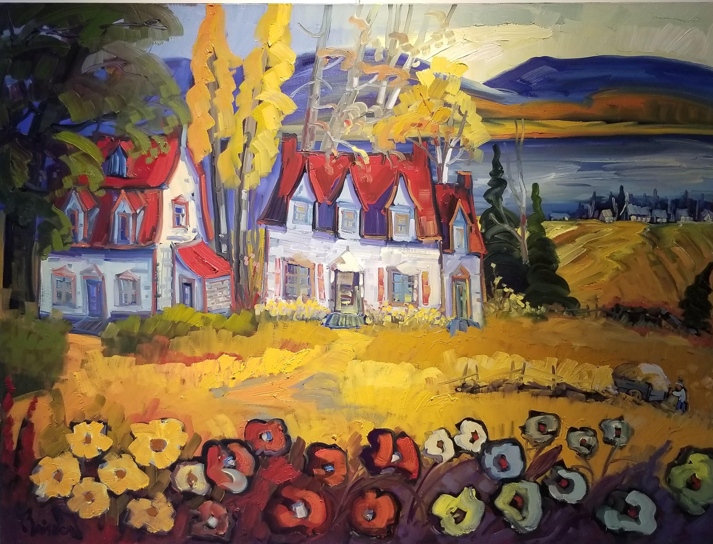 Normand Boisvert-ferme ancestrale au fleurs de l'ile d'orléan