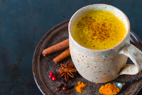 Warm Turmeric Latte - with desired spices