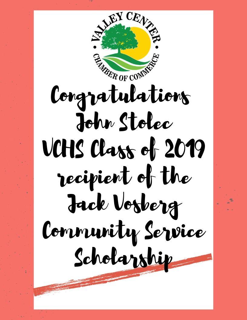Congratulations Vosberg Scholarship.jpg