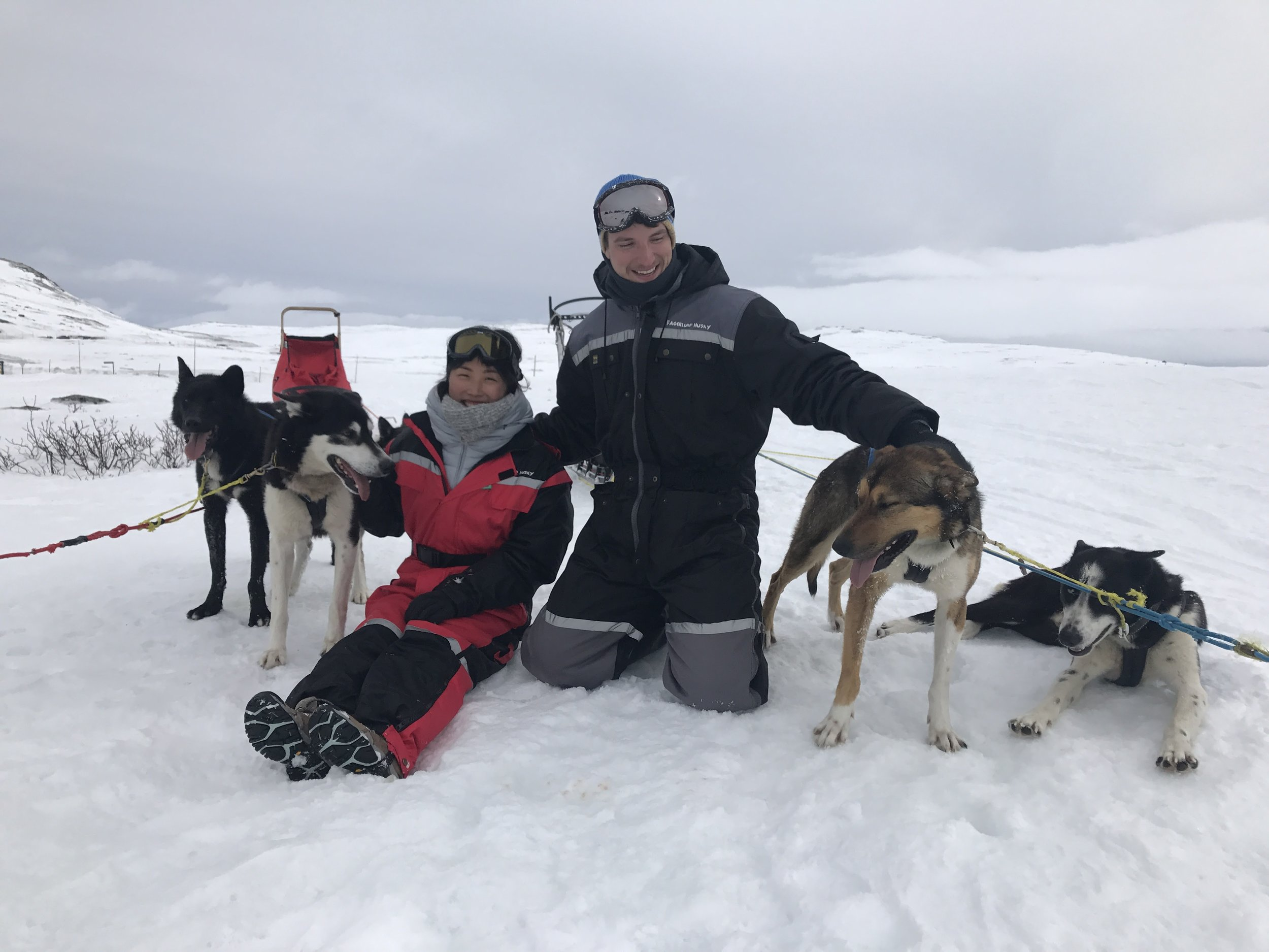Geilo, Norway2017 - Dogsledding through the barren ice plateaus of Norway was hands down, the most epic thing we've ever done. And plus, the dogs were adorable!