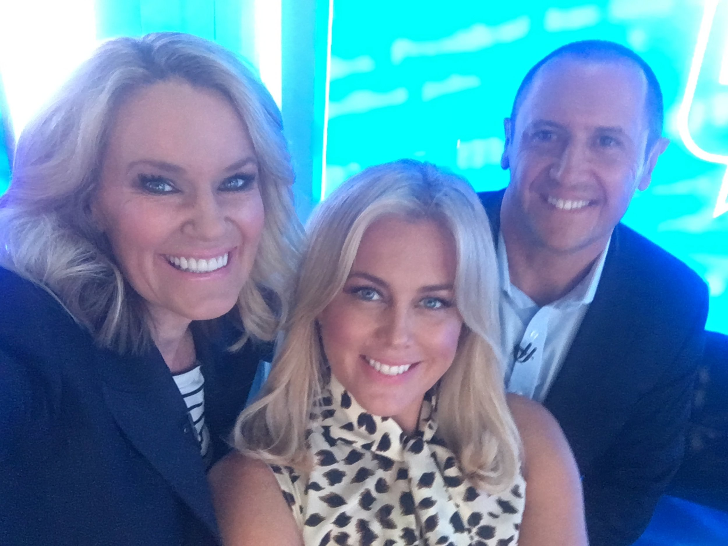With Sam Armytage and Larry Emdur at Sunrise