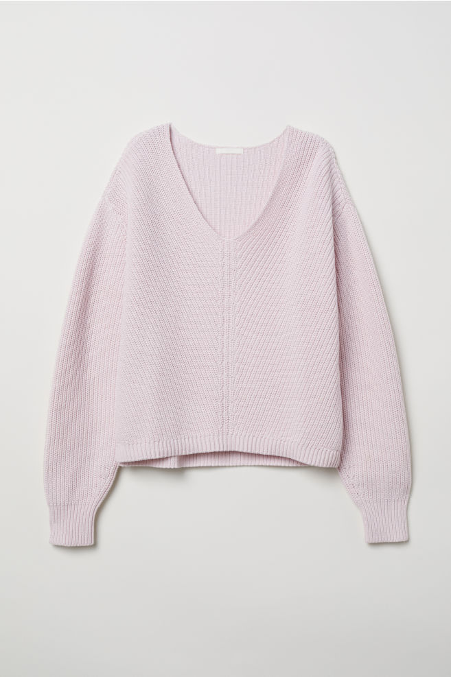 hm v neck cotton sweater