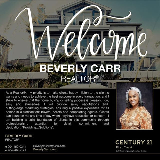 We are very excited to welcome Beverly Carr to the brokerage! If you need an a trustworthy, experienced and caring agent to represent you, Beverly is an excellent choice!  #EvenRealtorsMakeAMove