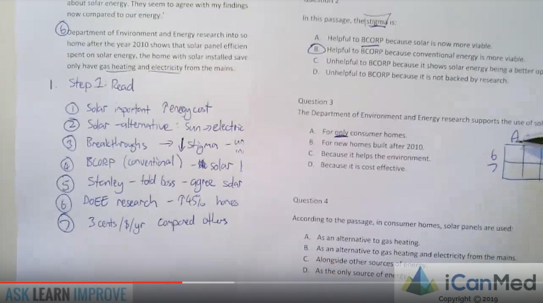 Verbal Reasoning - Question 3