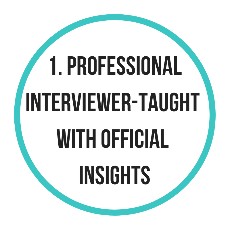 Get taught by those who interview, not those who get interviewed. - Become an outstanding candidate with the interview mark scheme as the centre of your preparation.