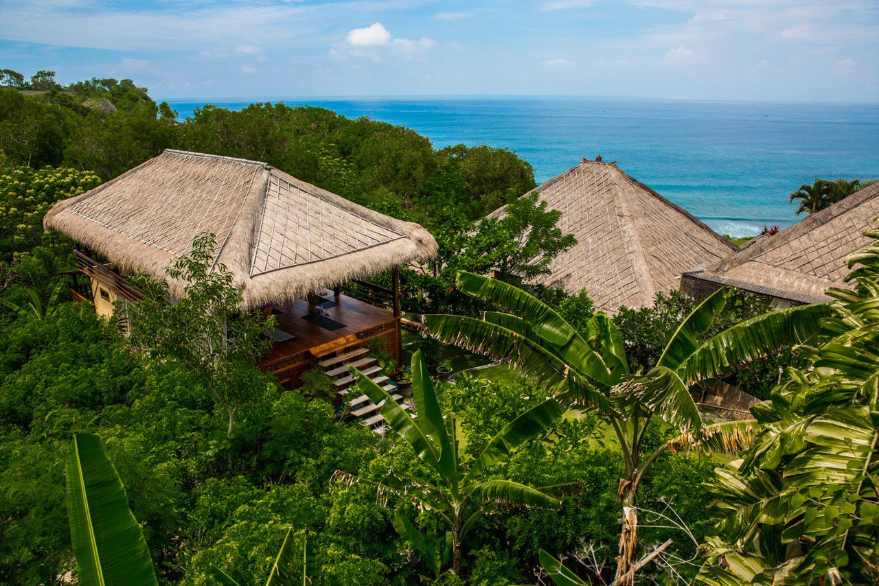 ABOUT BALI - Bali has a certain magic to it. Somewhere between the stunning rice terraces and ridiculous surf… the daily offerings that mystically appear throughout the day, and the ever abundant tropical fruits & flowers.