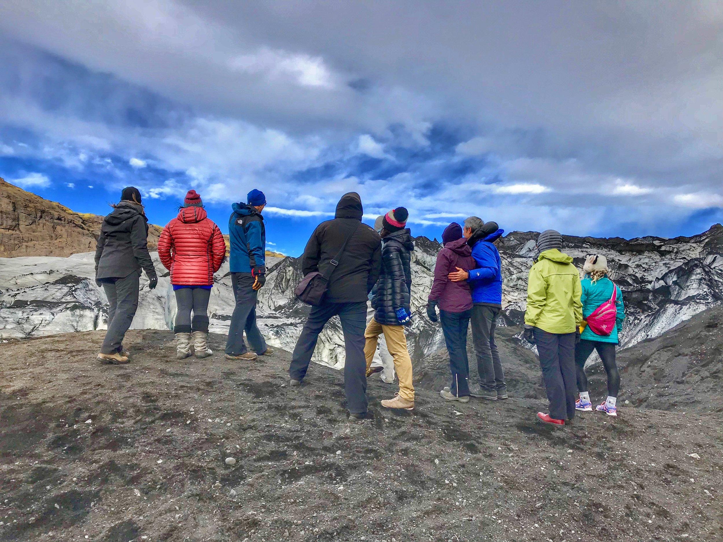 Hiking Solheimajokull