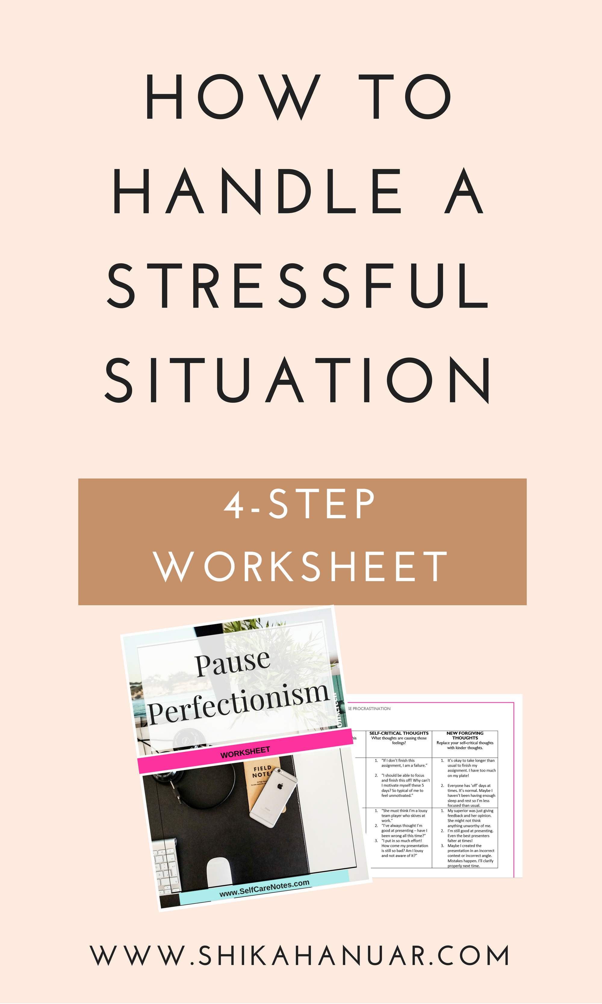 How to Handle A Stressful Situation Worksheet