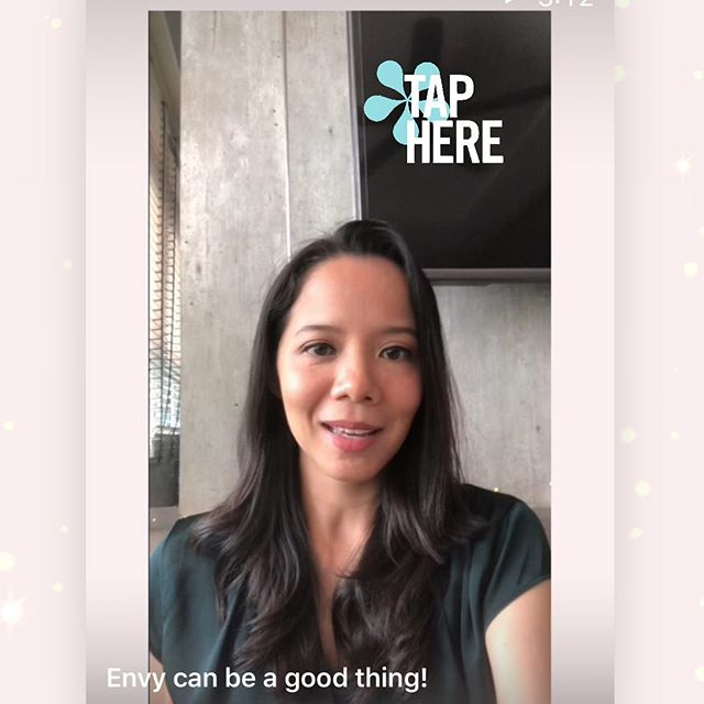 Find out how envy can actually be a good thing in this short impromptu IGTV video 🌟
