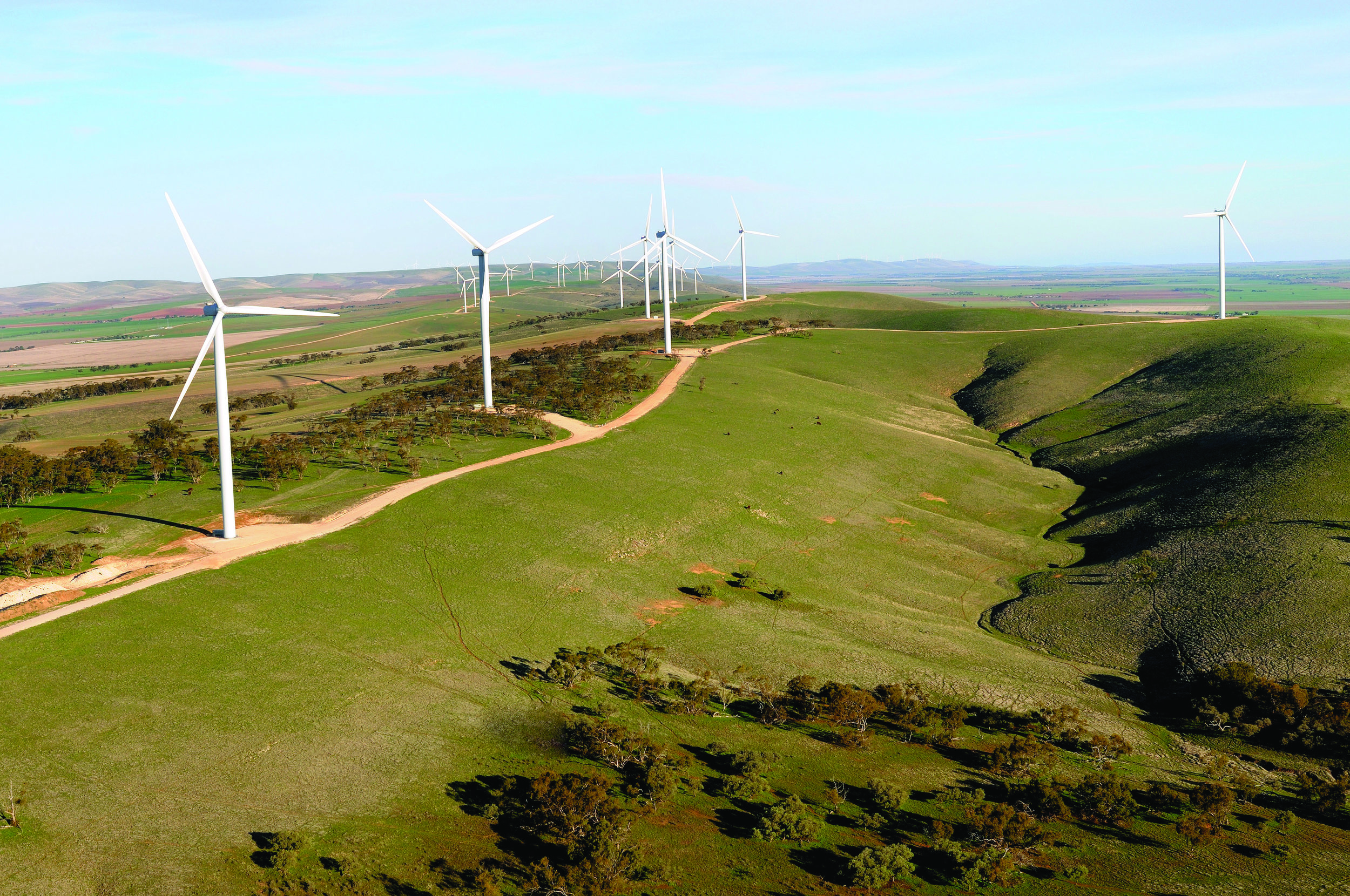Orora has secured the supply of renewable energy from a number of sources, including from Clements Gap Wind Farm.
