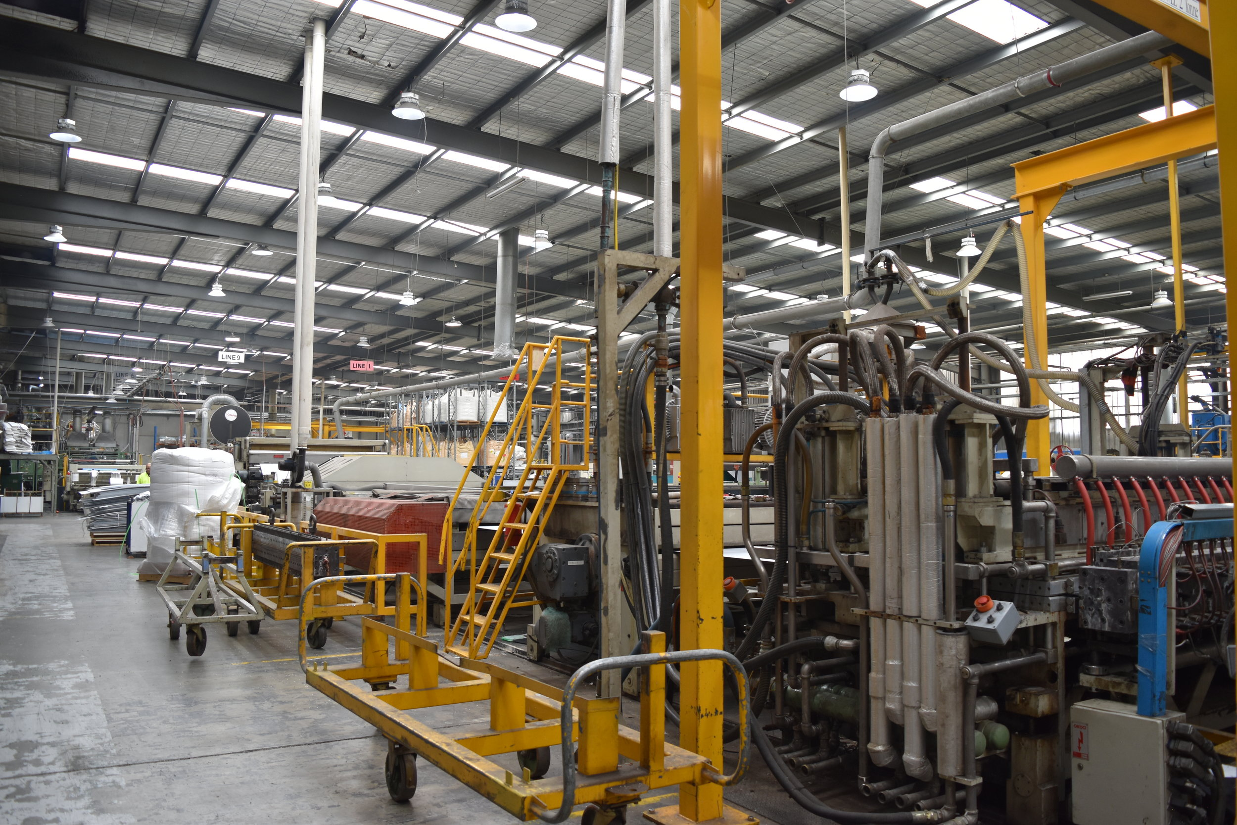 Corex Plastics Dandenong South factory has energy intense manufacturing processes.